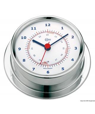 Horloge Barigo Sky Boitier inox poli cadran blanc 85mm