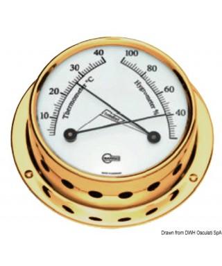 Hygro-thermomètre poli Barigo Tempo S diamètre 70mm