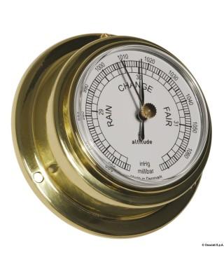 Baromètre Altitude 842 laiton brillant et émaillé diamètre 70mm
