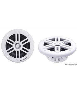 Enceintes double cône 192mm 2x120W Blanc WATERPROOF UV RESISTANT