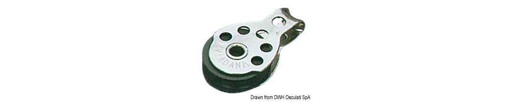 Mini poulies Regatta VIADANA pour bouts jusqu'à 6 mm