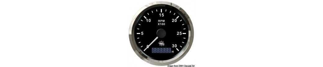 Compte-tours électronique universel avec compte-heures