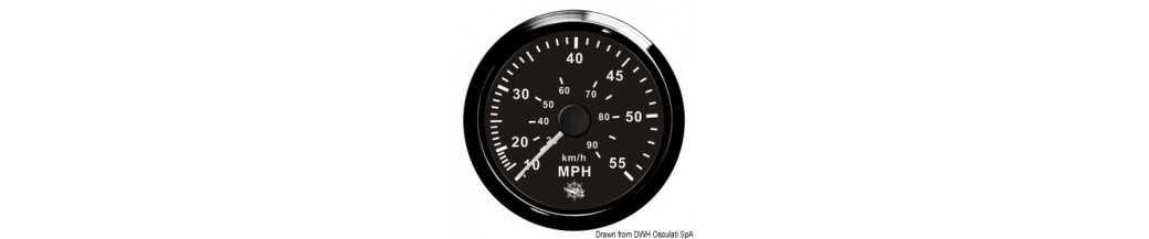 Speedomètre avec tube de Pitot à pression d'eau